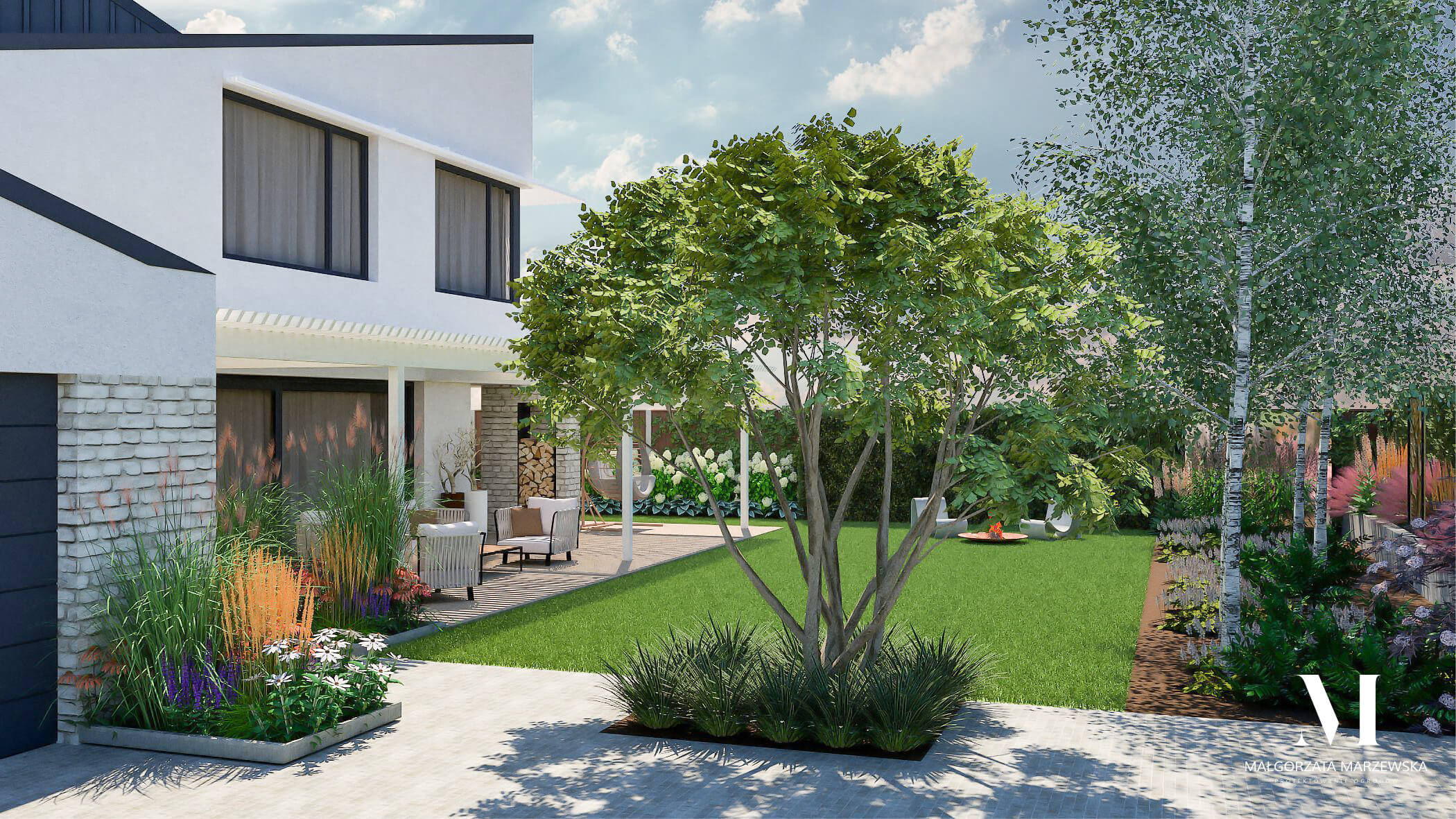 marzewska projektowanie ogrodow warszawa